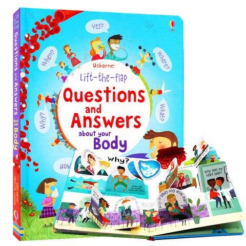 usborne lift the flap questiones e respostas sobre seu corpo ingles livros de imagem educacional