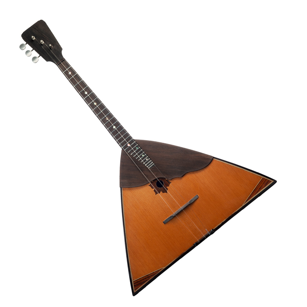 Russian Folk Instrument Wooden 3 String Balalaika For Music Lovers