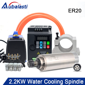 2.2kw ER20 water cooled spindle kit water cooling spindle & 2.2kw inverter & 80mm spindle bracket & 75w water pump turbo cartridge chra trust td06 20g water cooled 303 02102 072