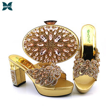 Shoe-And-Bag-Set Shoes African Wedding-Nigerian Women Party for Ladies Italy Matching