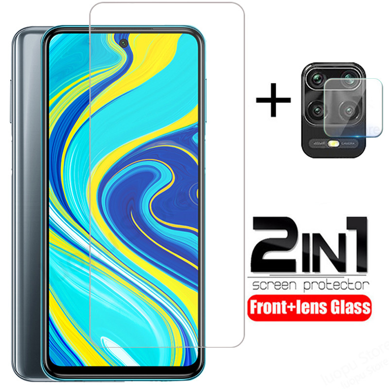 2 in 1 camera lens glass for redmi note 9s 9 pro max 8t creen protector protective tempered glass for redmi note 9 8 pro note 9s(China)