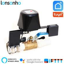Lonsonho Smart Wifi Gas Water Valve Controller Tuya Life App Home Automation Wireless Remote Control Alexa Google