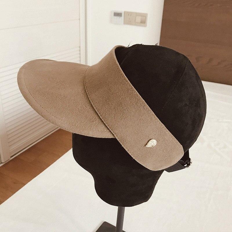 Простая зимняя бейсболка для мужчин и женщин, регулируемый Пустой Топ, утепленная шапка, лыжная Кепка для улицы, повседневный Зимний Козырек, солнцезащитная Кепка, бежевый, черный - Цвет: Camel