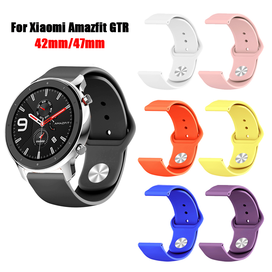 For Amazfit GTR Strap Silicone Sport Wacthband Bracelet For Xiaomi Huami Amazfit GTR 47MM 42MM Watch Band Strap For Amazfit Bip