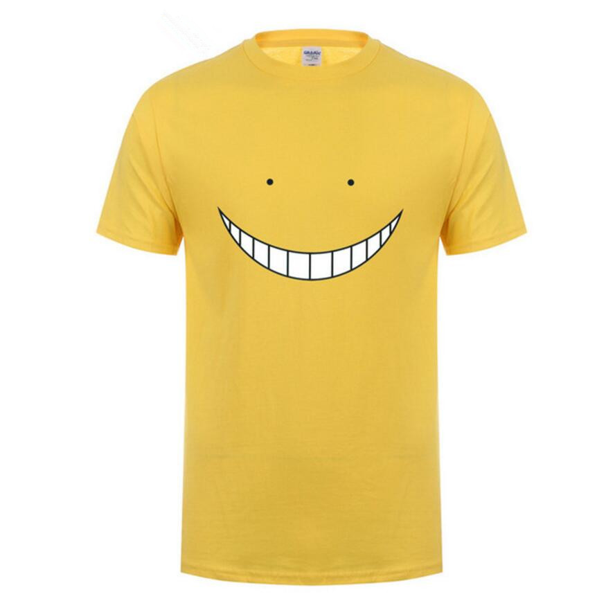 Custom Tshirt Anime Assassination Classroom Tops Tee Shirts Men Cotton Funny Cute Cartoon Print T Shirts Man Billie Eilish