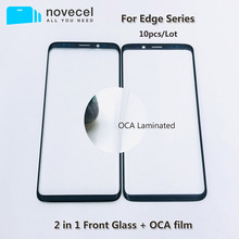 10pcs/lot Front Outer Screen Glass with OCA for Samsung  S7 edge S8 S9 + Note 8 9 Touch Screen Outer Cracked Glass Replacement