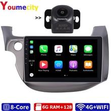 6G RAM/sekiz çekirdek/Android 10.0 araba multimedya oynatıcı DVD Gps HONDA FIT JAZZ 2007 için 2012 ile DSP Carplay IPS radyo Bluetooth