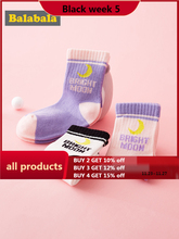 Balabala calcetines finos de algodón para niños, de otoño, transpirables, 3 pares