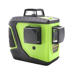 Image 3 - 2 pièces Lion batterie Fukuda 12 ligne laser 3D niveau 360 niveau Laser Vertical et Horizontal niveau Laser auto nivelant 515NM niveau laser pointu