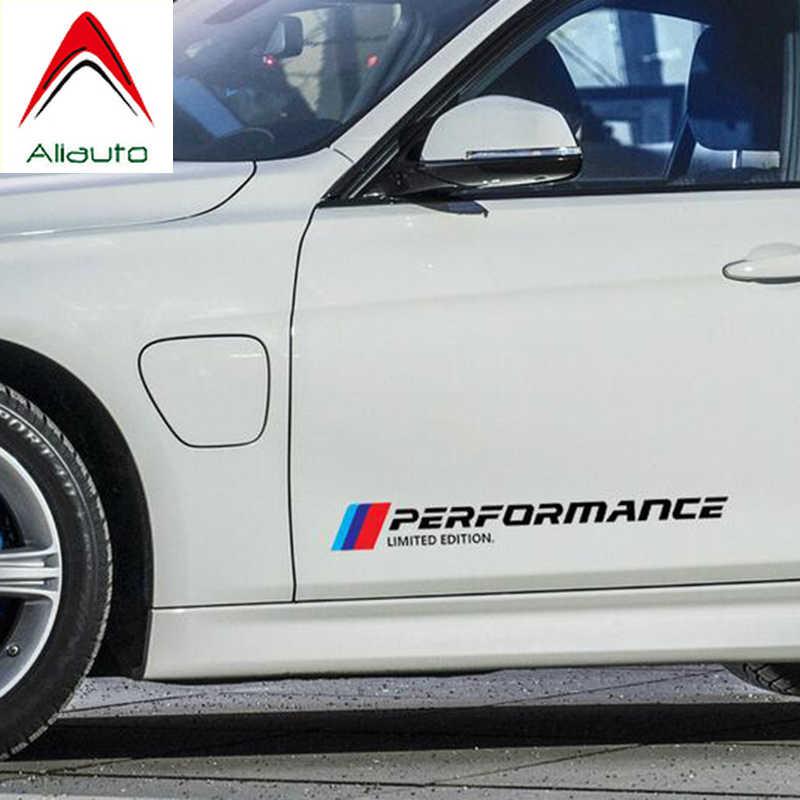 Aliauto 2 x performance limited edition 자동차 도어 및 허리 라인 스티커 액세서리 bmw x1 x3 x4 x5 x6 m1 m2 m3 m5 m6 5 시리즈