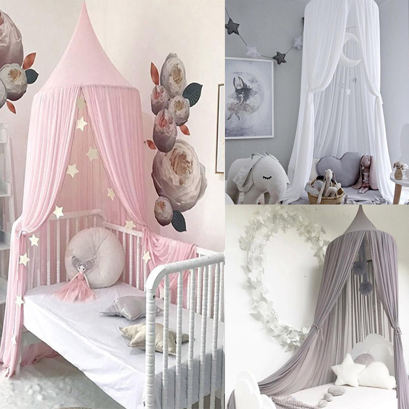 US $17.99 37% OFF Baby Bed Canopy Curtains Kids Bed Tent Princess Girls  Play Tent House Hanging Tent Round Hung Dome Children Room Dossel Baby-in  Toy ...
