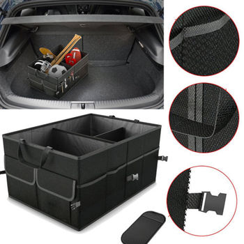Car Storage Collapse Trunk Back Bin Bag Caddy Organizer Ford Hyundai Automobiles Interior Accessories Stowing Tidying Trunk Box image