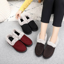 Women Winter Flat Warm Fur Snow Boots Ankle Boots Women's Suede Ladies Platform Short Furry Plush Female Casual Shoes Fashion(China)