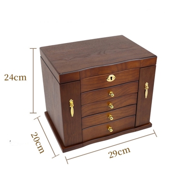 Jewelry Box with Lock Real Wooden
