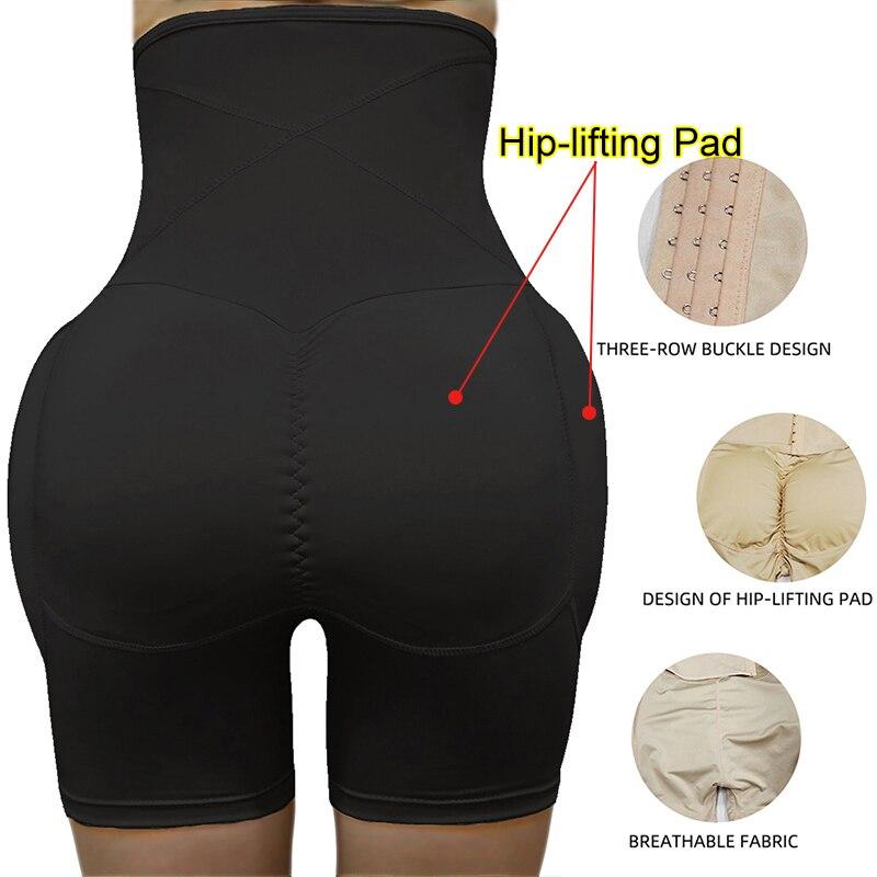 Image 5 - High Waist Tummy Control Panties Stomach Hip Pad Firm Control Shapewear Body Shaper Butt Lifters Bodysuit Booty Butt EnhancerControl Panties   -