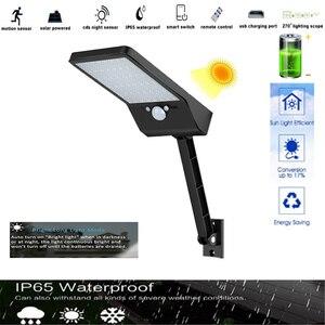 KDL Led-светильник на солнечной батарее, сад-светильник, датчик движения, микроволновая печь-радар-датчик, суперяркий-лампа Ip65 Rotable 48