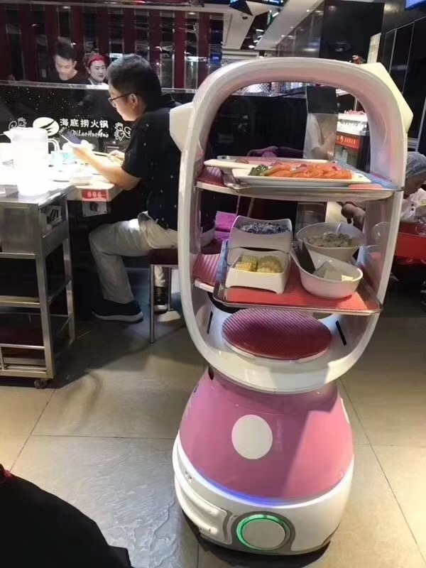 Customize hotel Restaurant administrative delivery Service Waiter smart voice Robot 1