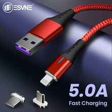 ESVNE 5A Magnetic Usb Charging Cable For iphone Samsung Huawei 1M Charger Micro Xiaomi Type C