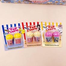 Popcorn Eraser Rubber Pencil Kids Children Stationery Correction Gift School-Supplies