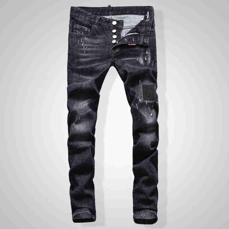 NEW Men Jeans Ripped For Men Skinny DSQ Jeans Pants Men Jeans Outwear Man Pants