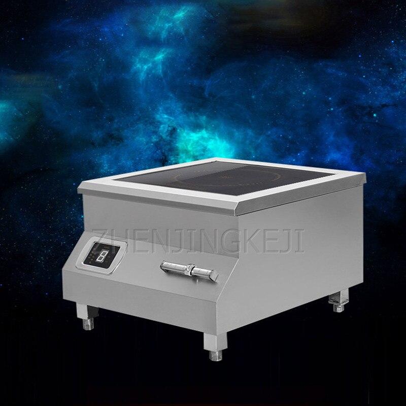 Высокомощная индукционная плита 8 кВт настольная электромагнитная печь для готовки ресторана кухни с плоским очагом Коммерческая печь 2