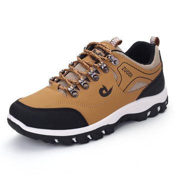 Men Shoes Spring Autumn Breathable Casuals Hiking Walking Sneakers Outdoor Ultralight Leather Slip-on Climbing Trekking Sneakers xiang guan men hiking shoes women mesh breathable trekking boots hunting tactical climbing sports outdoor walking sneakers