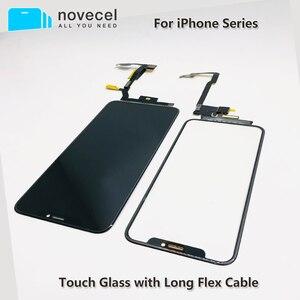 Image 1 - Черный сенсорный экран с удлинителем, гибкий кабель без пайки для iPhone X Xsmax 11pro Max, запасные части
