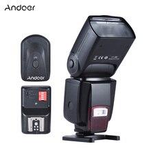 Andoer AD 560 II Universal Cámara Flash Speedlite con luz de relleno ajustable LED + 16 canales Radio inalámbrico disparador de Flash Remoto