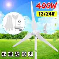 400W Wind Turbines Generator 12V/24V 3 Blades Horizontal Wind Generator With Controller Windmill Energy Turbines Charge
