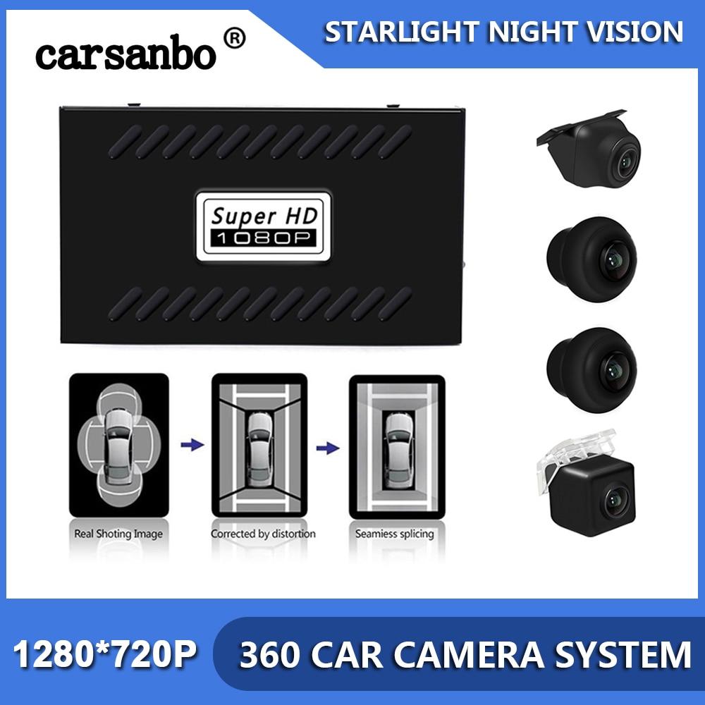 Universal Car 4 Camera 360 Degrees Surround View  Reverse Parking Camera Bird View Panoramic 2D System DVR HD 1080P Car Camera