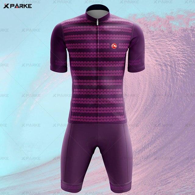 Novo 2020 triathlon terno de manga curta camisa ciclismo skinsuit macacão maillot ciclismo ropa ciclismo conjunto roupas 5