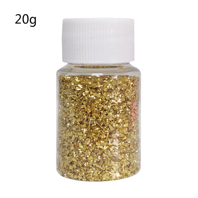 20G Champagne Gold Metal Broken Stones DIY UV Resin Epoxy Resin Jewelry Mold Fillings Art Crafts