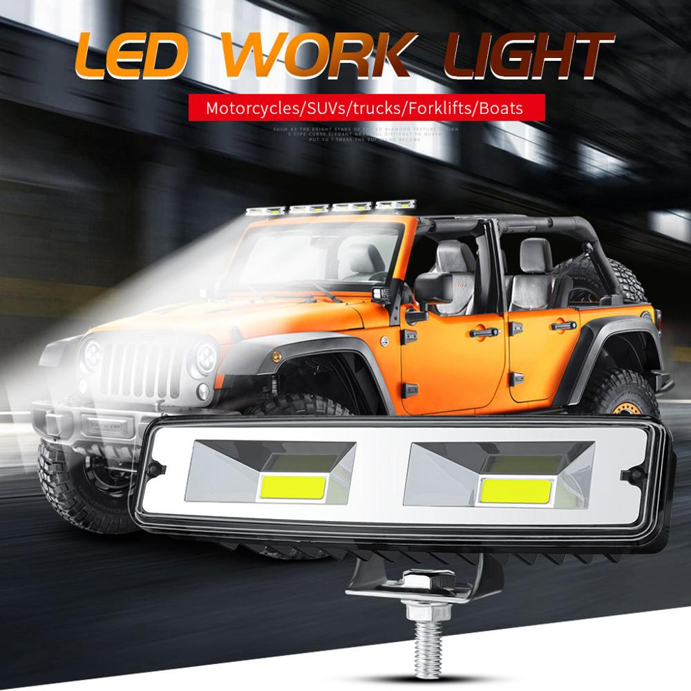 1PCS 12V 48W LED WORK LIGHT BAR Spot Lamp For OFF-ROAD 4WD SUV ATV CAR LAMPS/ Project Vehicle  / Excavator/ Truck