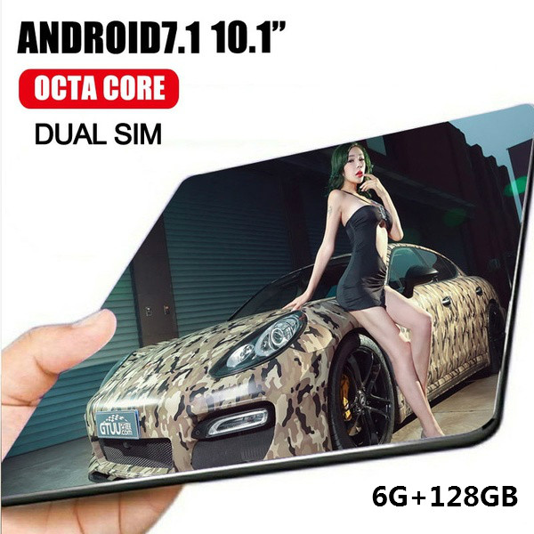 10.1 Inch Android 8.0 RAM 6GB ROM16GB /64G/128G Android Tablet With Dual Card Dual Camera Bluetooth WiFi Dual Camera Kids Tablet