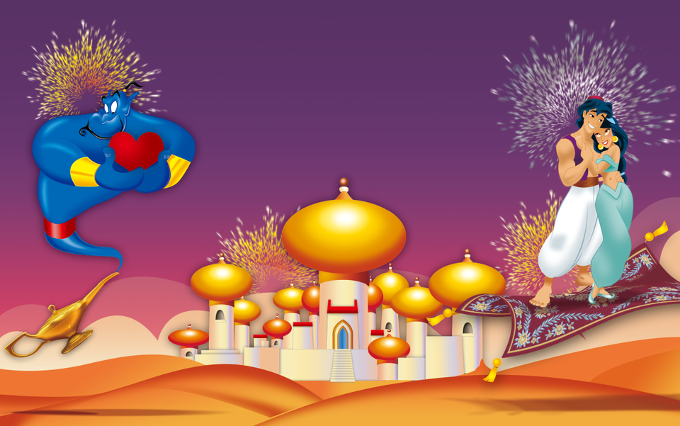 Photography Backdrops Aladdin Palace Castle Jasmine Princess