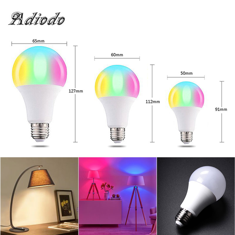 110V 220V 85-265V Energy-Saving LED RGB Color Bulb Light E27 Magic 16 Color Changing  Lamp Bulb With Remote Control