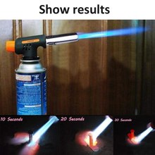 цена на Gas Welding Torch Flamethrower Butane Burner Automatic Ignition Baking  Flame Torches Welding BBQ Camping Outdoor Hiking