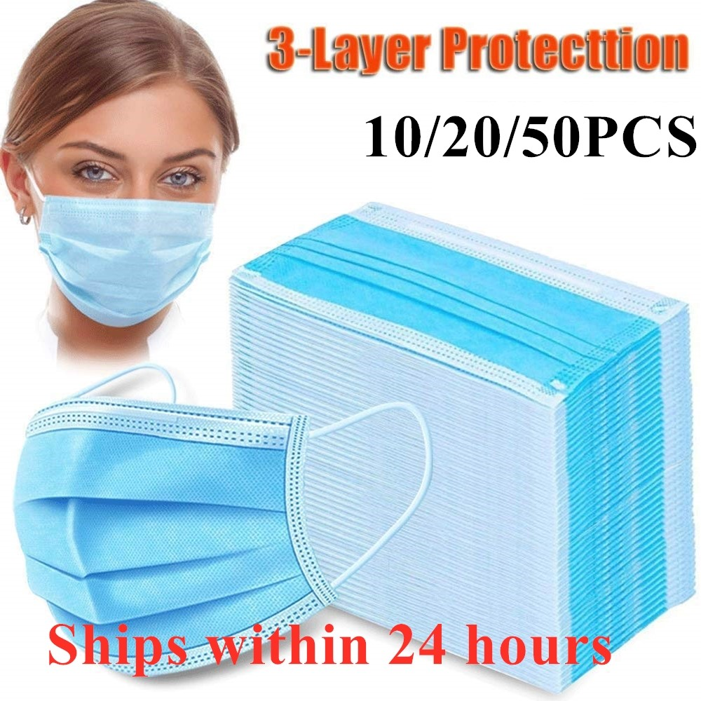 N95 KN95 FFP3 Maskdisposable PM2.5 Anti Pollution Mask Dust Protection Mask Mouth Muffle Allergy Asthma Travel 3-layer Non Woven