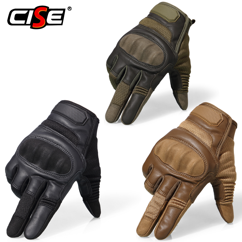 Touchscreen PU Leather Motorcycle Hard Knuckle Full Finger Gloves Protective Gear Racing Biker Riding Motorbike Moto Motocross 3