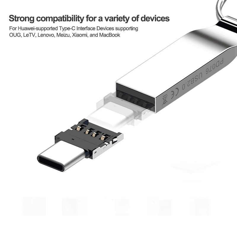 Hot 3C-Type-C USB-C a Usb 2.0 Otg Adattatore per Xiao Mi Mi A1 per Samsung Galaxy S8 Più Oneplus 5T Macbook Pro di Tipo C Otg Convertire