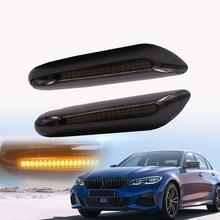 2pcs Dynamic LED 2 Sides Marker Indicator Turn Signal Lamp For BMW E81 E82 E87 E88 E90 E91 E92 E93 E46 E60 E61 X3 E83 X1 E84