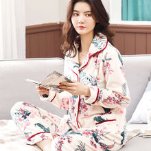 цены Winter Warm Flannel Women Pajamas Sets Thick Coral Velvet Long Sleeve Sleepwear Nightgown Girl pyjama Set
