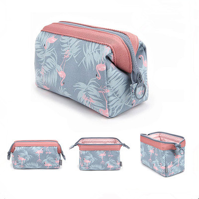 New Women Portable Cute Multifunction Beauty Flamingo Cosmetic Bag Travel Organizer Case Makeup Make Up Wash Pouch Toiletry Bag