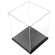 Clear Acrylic Display Box Dustproof Protect Model Show Case Colorful LED Lights