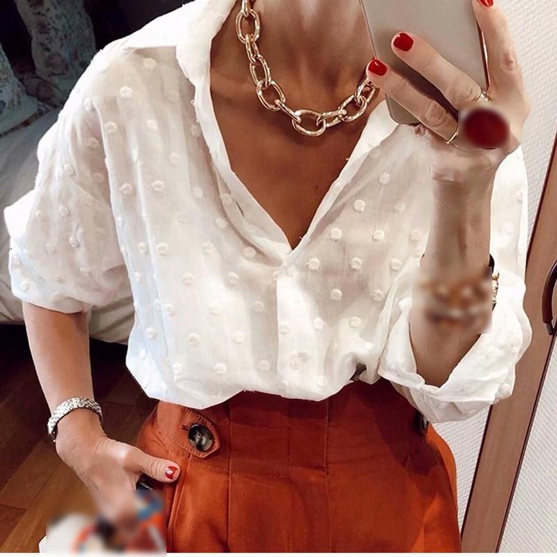 Soft Women Edelweiss Chiffon Dot Shirt 2019 Summer Elegant Ladies Fashion Transparent Blouses Party Girls Casual Tops Femme Chic