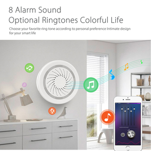 Image 3 - Haozee 3 In 1 Wifi Siren Alarm Linkage With Temperature Humidity Sensor Tuya Smart Life Alexa Google Home