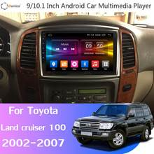 360 ° 4 * AHD Fotocamera Android 9.0 8Core 4G + 64G GPS Radio CarPlay SPDIF DSP lettore auto per Toyota Land cruiser 100 GX VXR LC100(China)