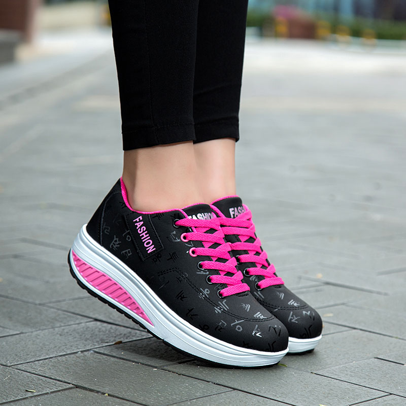 2020 Spring New Women Platform Rocking Shoes Casual Fashionable Womens Chunky Designer Sneakers Zapatillas Con Plataforma Mujer 7