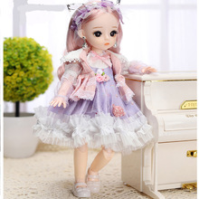 Fashion Dress Bjd Doll 30CM 18 Movable Joints Doll With Cool Dress Suit DIY Bjd Doll Best Gifts For Girl Handmade Beauty BJD Toy