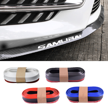 цена на 2.5M Car Bumper Protector Front Lip Carbon Fiber Rubber Car bumper Lip Mouldings Splitter Chin Body Kits Spoiler Auto Exterior